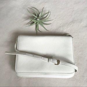 EUC Talbots white leather crossbody bag purse